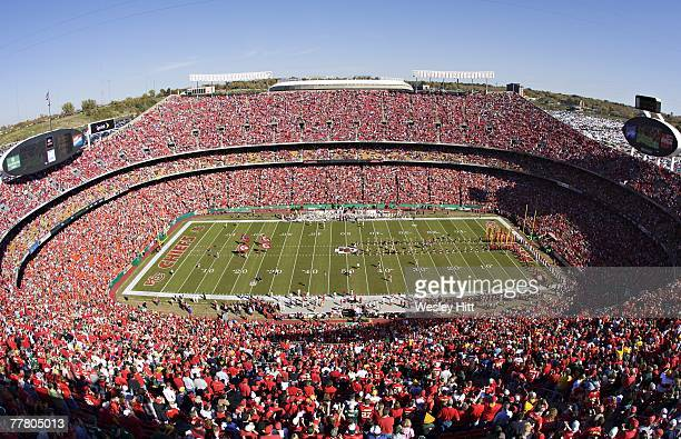 A general view of Arrowhead Stadium is shown during the Kansas City Chiefs game against the Green Bay Packers at Arrowhead Stadium on November 4 2007...