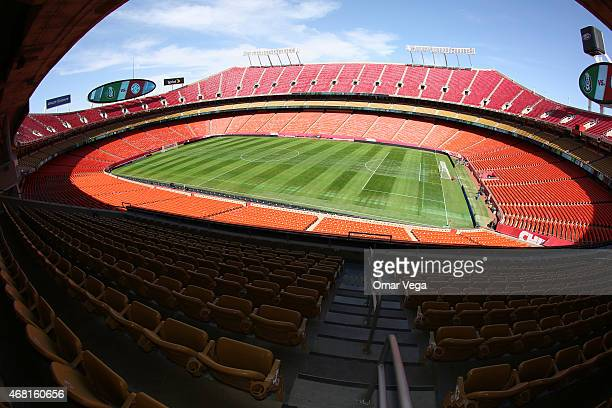 General view of Arrowhead Stadium prior to Paraguay Training Session on March 30 2015 in Kansas City United States