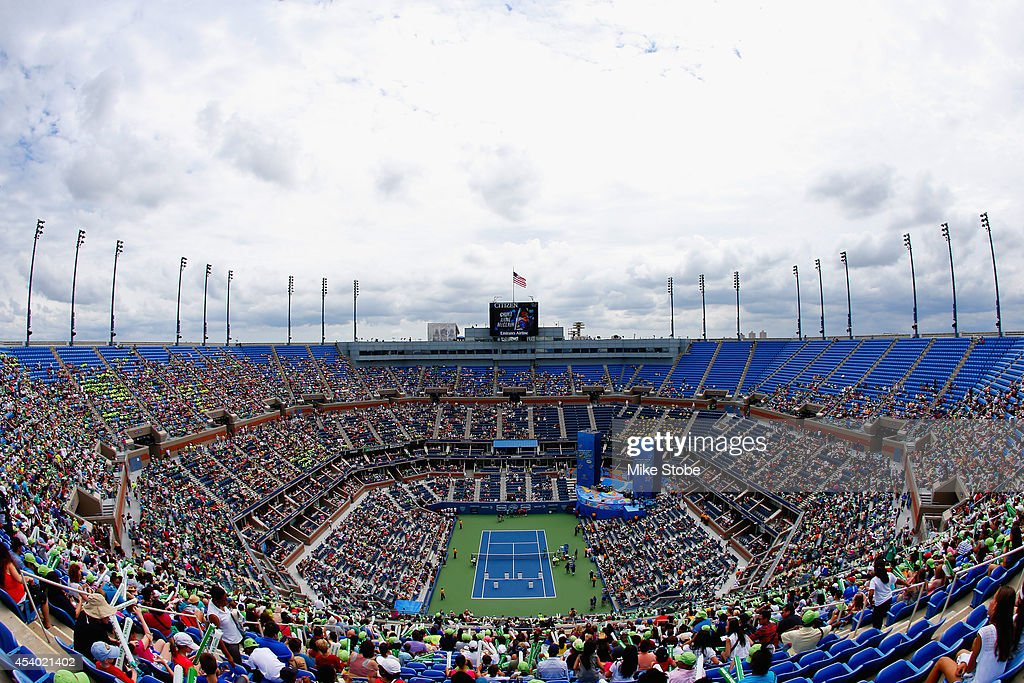 A general view of Arthur Ashe Stadium is seen during Arthur Ashe Kids' Day prior to the start of the 2014 U.S. Open at the USTA Billie Jean King National Tennis Center on August 23, 2014 in the Flushing neighborhood of Queens in New York City.