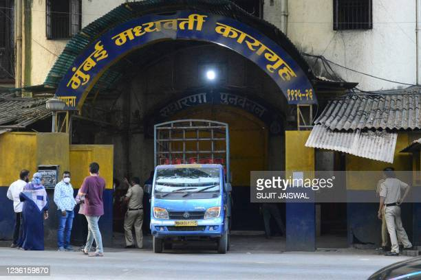 General view of Arthur Road Jail, where Aryan Khan, son of Bollywood actor Shah Rukh Khan, is under custody after his arrest in connection with a...