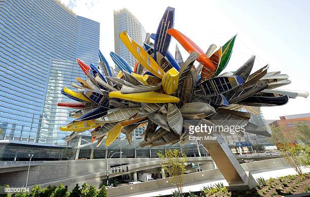 A general view of artist Nancy Rubins' 'Big Edge' fine art piece at CityCenter November 18 2009 in Las Vegas Nevada The 67acre $85 billion mixeduse...