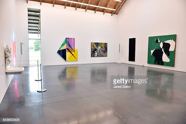 A general view of artwork displayed at the Midsummer Party 2016 at Parrish Art Museum on July 9 2016 in Water Mill New York