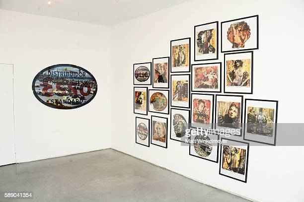 A general view of artwork during Kadir Lopez's Art Show on August 12 2016 in West Hollywood California