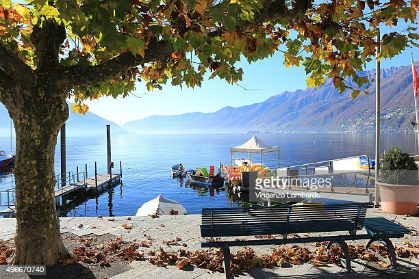 A general view of Ascona on November 11 2015 in Ascona Switzerland