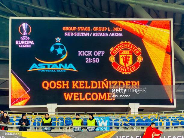 A general view of Astana Arena ahead of the UEFA Europa League group L match between FK Astana and Manchester United at Astana Arena on November 28...