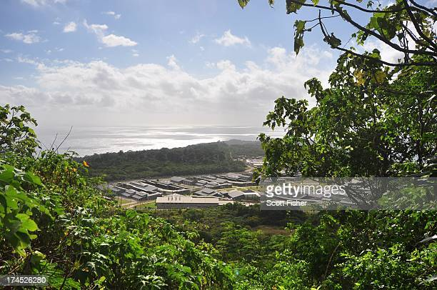 A general view of asylum seekers and facilities at Christmas Island Detention Centre on July 26 2013 on Christmas Island The Australian government...