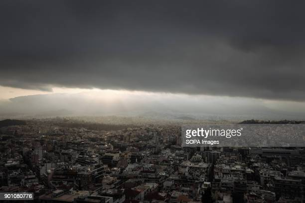 A general view of Athens city capital of Greece After eight years of an ongoing economical crisis Greece is still struggling to start to recover from...