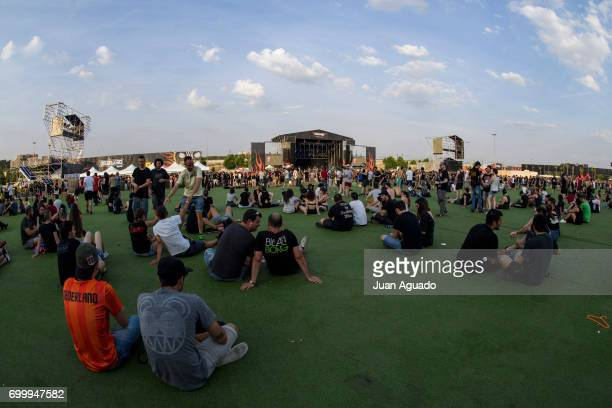 A general view of athmosphere at the Download Festival on June 22 2017 in Madrid Spain