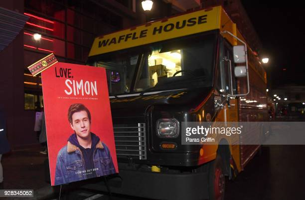 A general view of Atlanta Fan Screening and QA at the Waffle House Food Truck at Regal Atlantic Station on March 6 2018 in Atlanta Georgia