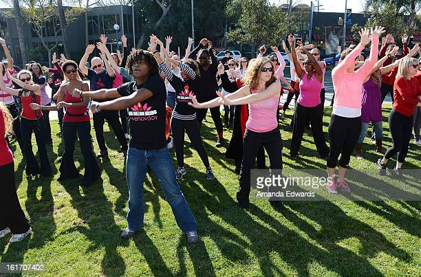 A general view of atmopshere at the kickoff of One Billion Rising on February 14 2013 in West Hollywood California