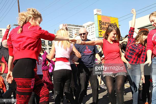 General view of atmopshere at the kick-off of One Billion Rising on February 14, 2013 in West Hollywood, California.