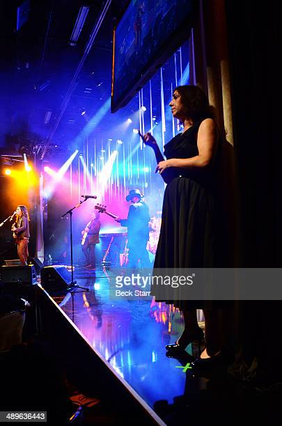 A general view of atmosphere as 4 Non Blondes perform at The LA Gay Lesbian Center's Annual An Evening With Women at The Beverly Hilton Hotel on May...