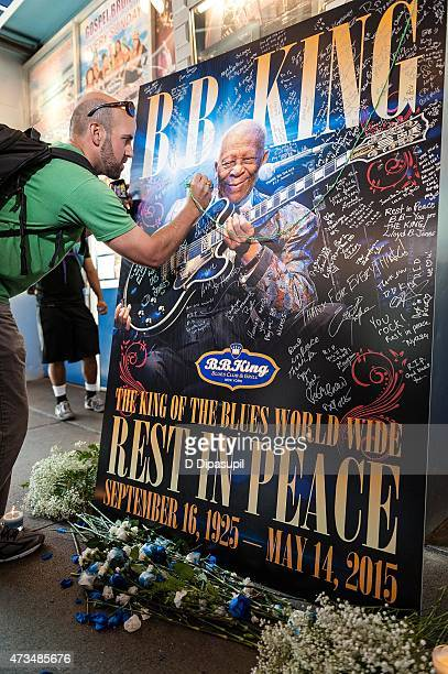 A general view of atmosphere as BB King is remembered at the BB King Blues Club Grill on May 15 2015 in New York City King passed away on May 14 2015...