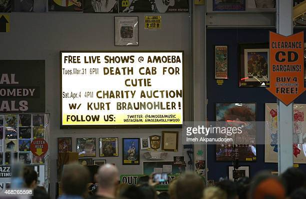 A general view of atmosphere as Death Cab for Cutie performs onstage for the release of their new album 'Kintsugi' at Amoeba Music on March 31 2015...