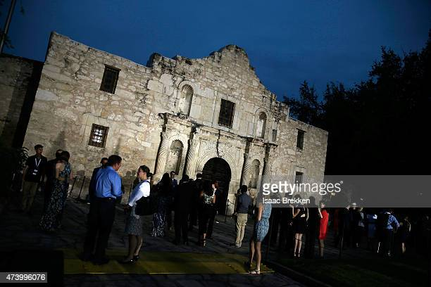 A general view of atmosphere as HISTORY celebrates the epic new miniseries 'Texas Rising' with 'Texas Honors' event at the Alamo on May 18 2015 in...