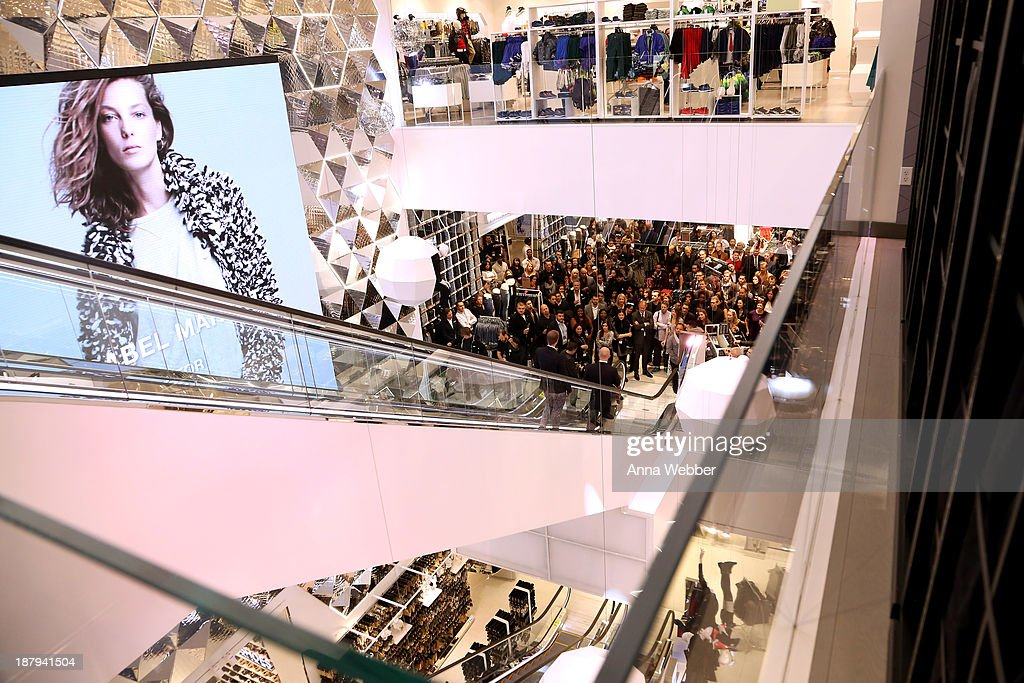 A general view of atmosphere as H&M and Lady Gaga open an epic H&M store in Times Square on November 13, 2013 in New York City.