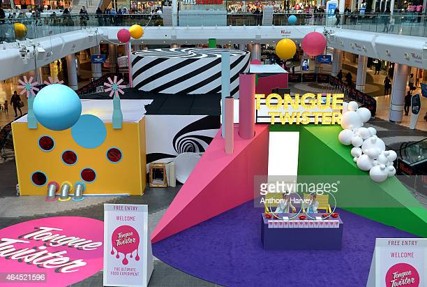 A general view of atmosphere as Lorraine Pascale launches the Tongue Twister Food Experience at The Atrium Westfield on February 26 2015 in London...
