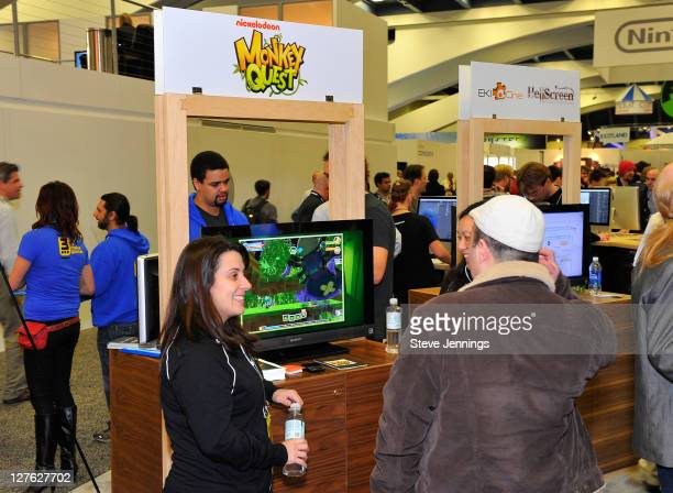 General view of atmosphere as Nickelodeon debuts Monkey Quest the online game at Developers Conference at Moscone Center South on March 2, 2011 in...