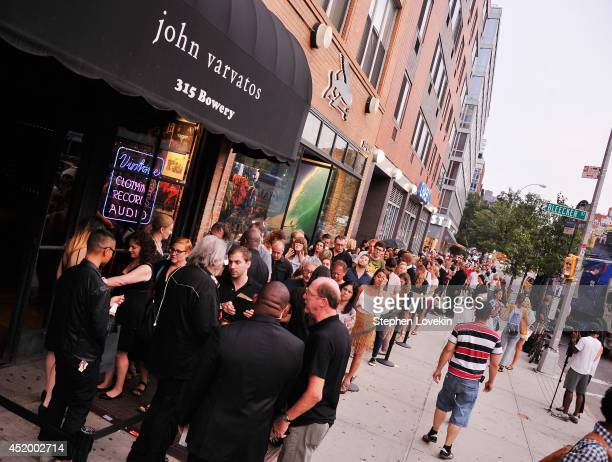 A general view of atmosphere as part of John Varvatos Bowery Live at John Varvatos 315 Bowery Boutique on July 10 2014 in New York City