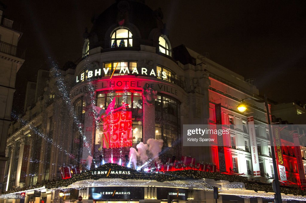 A general view of atmosphere as Princess Marie Cavallier of Denmark attends the Godjul Joyeux Noel Danois Christmas Decorations Inauguration at BHV Marais on November 15, 2017 in Paris, France.