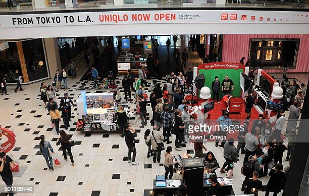A general view of atmosphere as RCA hosts Gabriel Iglesias for Made For Moments Holiday Campaign held at Glendale Galleria on December 12 2015 in...