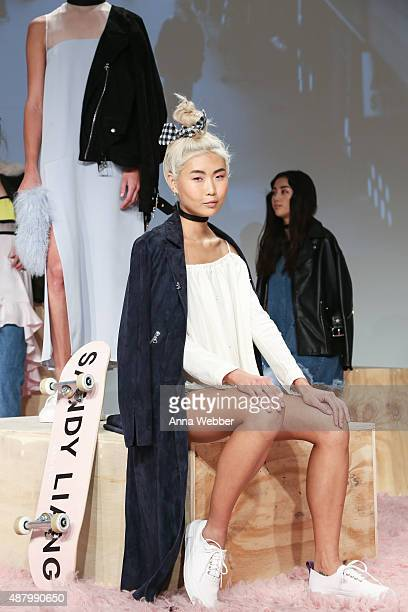 A general view of atmosphere as seen during OM for Sandy Liang Spring/Summer 2016 Presentation at Milk Studios on September 12 2015 in New York City