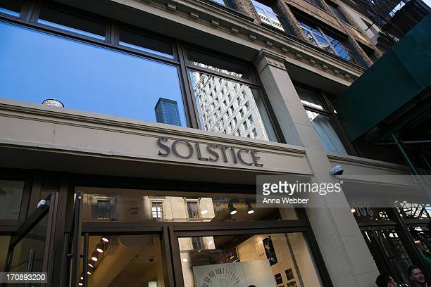 General view of atmosphere as seen during Solstice Sunglasses Annual Summer Soiree In Flatiron at Solstice Sunglass Boutique on June 19 2013 in New...