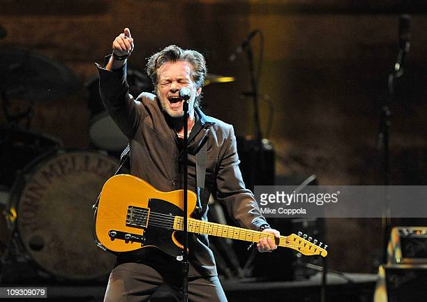 A general view of atmosphere as singer/songwriter John Mellencamp performs at Radio City Music Hall on February 19 2011 in New York City