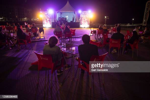 A general view of atmosphere as the Randy Greer Trio performs on stage during 55th edition of the Heineken Jazzaldia Festival on July 24 2020 in San...