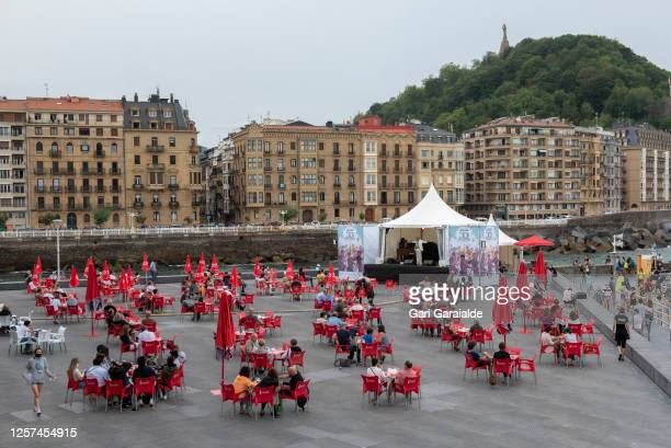 General view of atmosphere as the Randy Greer Trio performs onstage during 55th edition of Heineken Jazzaldia Festival on July 21, 2020 in San...