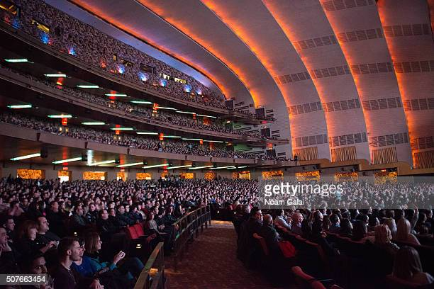 General view of atmosphere as The Tenderloins perform during the truTV Impractical Jokers 'Where's Larry' Tour at Radio City Music Hall on January 30...