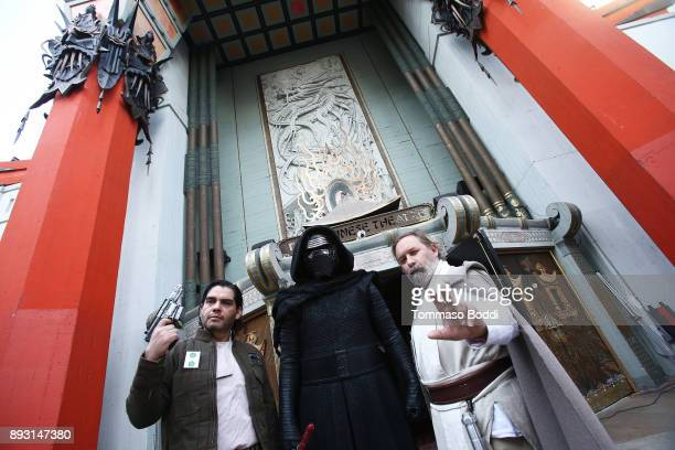 A general view of atmosphere as Todd Fisher unveils a commemorative plaque in honor of his sister Carrie Fisher for the opening day of 'Star Wars The...
