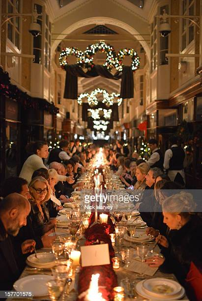A general view of atmosphere at a dinner at Burlington Arcade after the flagship store launch of Salvatore Ferragamo's Old Bond Street Boutique at 24...
