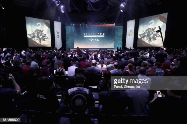 A general view of atmosphere at Activision And Bungie Celebrate The Gameplay World Premiere Of 'Destiny 2' at Jet Center Los Angeles on May 18 2017...