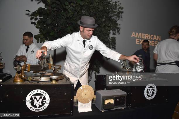 A general view of atmosphere at American Express x Justin Timberlake 'Man Of The Woods' listening session at Skylight Clarkson Sq on January 16 2018...
