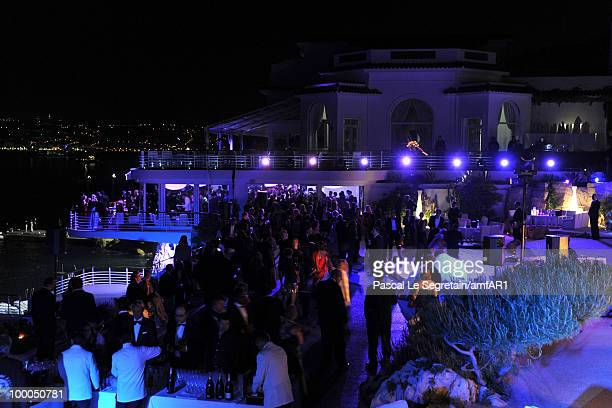 A general view of atmosphere at amfAR's Cinema Against AIDS 2010 benefit gala after party at the Eden Roc on May 20 2010 in Antibes France