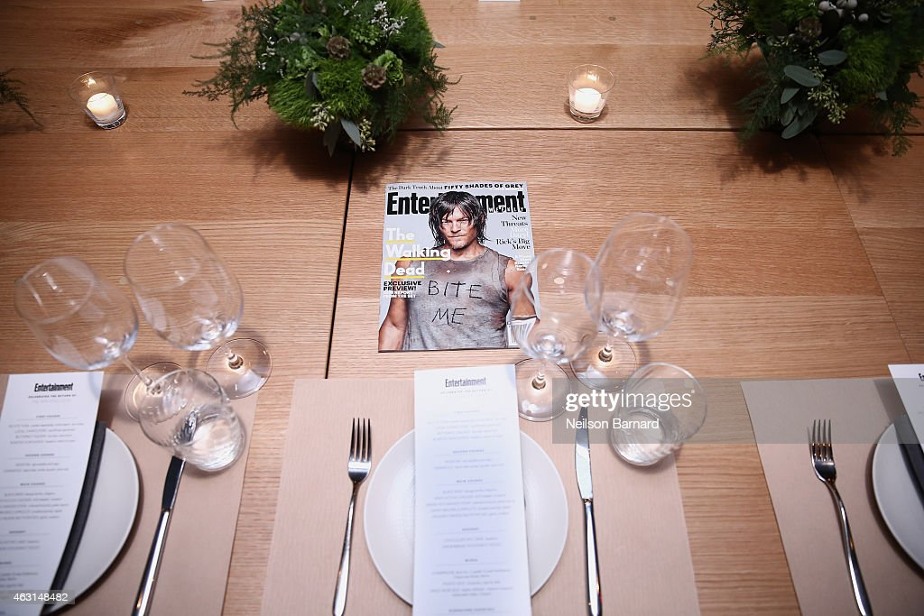 A general view of atmosphere at an intimate dinner hosted by Entertainment Weekly to celebrate the magazines 'The Walking Dead' cover story on February 10, 2015 in New York City.