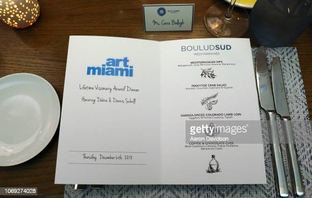 A general view of atmosphere at Art Miami 2018 Lifetime Visionary Award Dinner Honoring Dennis Debra Scholl at Boulud Sud Miami on December 6 2018 in...