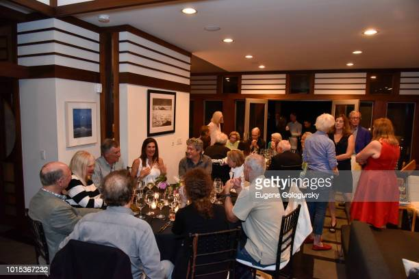 A general view of atmosphere at Authors Night At East Hampton Library Private Dinner on August 11 2018 in East Hampton New York