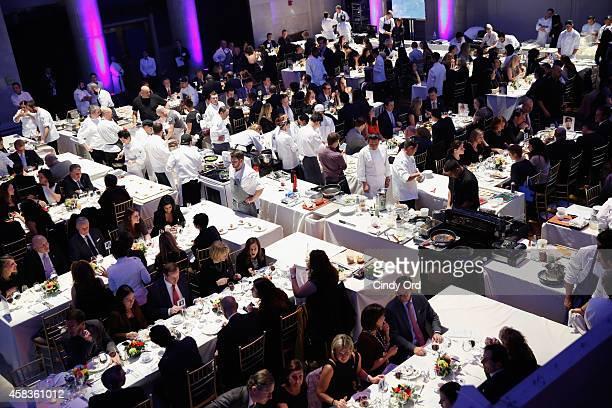 A general view of atmosphere at Autism Speaks Celebrity Chef Gala 2014 at Cipriani Wall Street on November 3 2014 in New York City