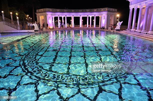 A general view of atmosphere at Best Buddies Challenge Hearst Castle Neptune Pool Reception at Hearst Castle on September 7 2013 in San Simeon...