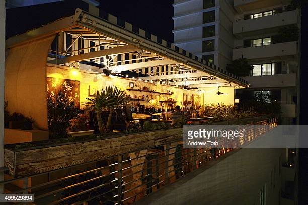 A general view of atmosphere at BMW i Soho House Artist Talk with Samson Young Lawrence Weschler at Soho Beach House on December 1 2015 in Miami...