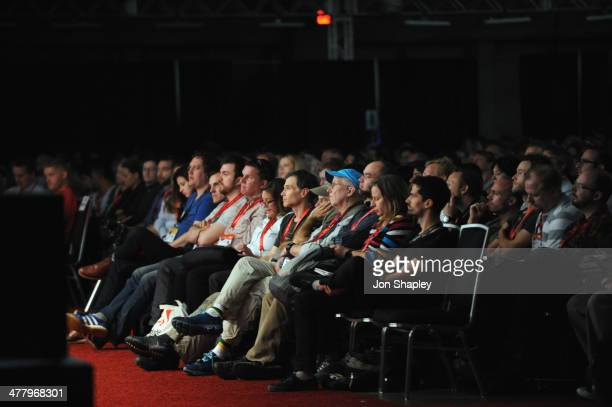 A general view of atmosphere at Bruce Sterling Closing Remarks during the 2014 SXSW Music Film Interactive Festival at Austin Convention Center on...