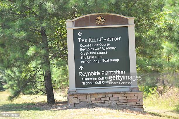 A general view of atmosphere at Carrie Underwood and Mike Fisher Wedding at RitzCarlton Lodge Reynolds Plantation on July 10 2010 in Greensboro...
