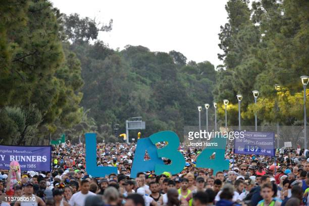 A general view of atmosphere at LA Celebrates The 34th Running Of The Skechers Los Angeles Marathon on March 24 2019 in Los Angeles California