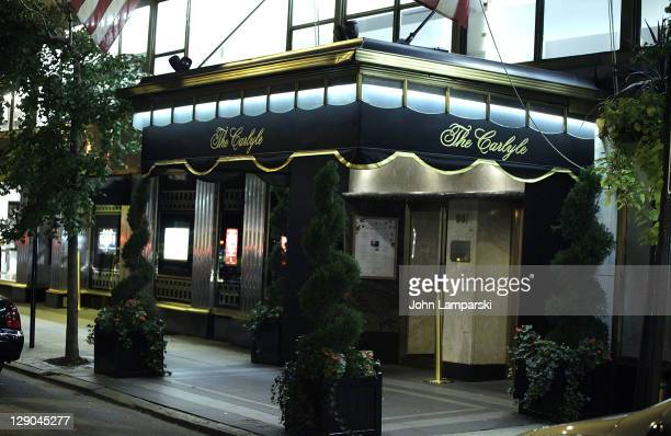 A general view of atmosphere at Clint Holmes 'Remembering Bobby Short' opening night event at Cafe Carlyle on October 11 2011 in New York City