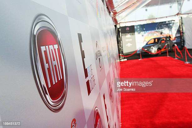 A general view of atmosphere at Fiat's Into The Green at the 70th Annual Golden Globe Awards held at The Beverly Hilton Hotel on January 13 2013 in...