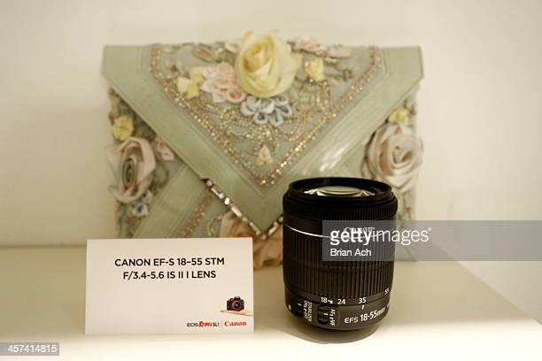 A general view of atmosphere at Georgina Chapman's Marchesa studio for Canon's THE BIG MOMENT with the world's smallest and lightest DSLR on December...