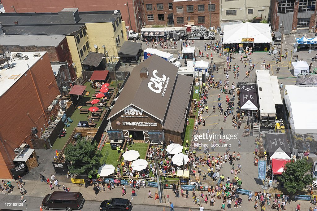 A general view of atmosphere at HGTV'S The Lodge At CMA Music Fest - Day 3 on June 8, 2013 in Nashville, Tennessee.