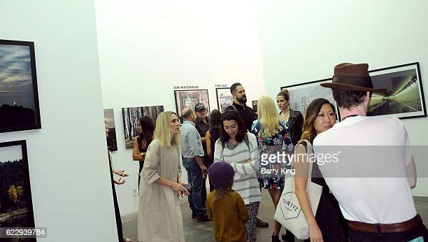 A general view of atmosphere at 'Hindsight Is 30/40 A Group Photographer Exhibition' at The Salon at Automatic Sweat on November 12 2016 in Los...